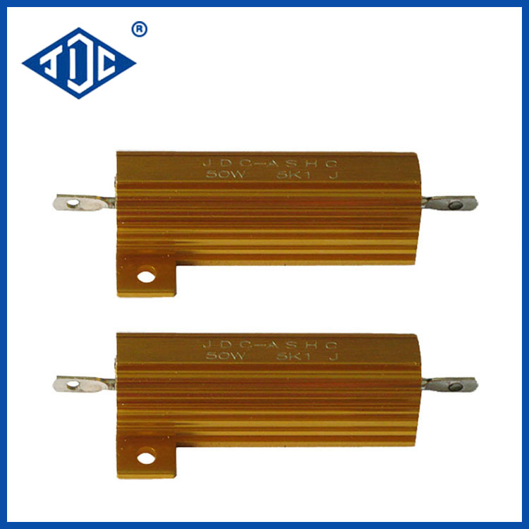 Gold Aluminum Housed Wirewound Resistor
